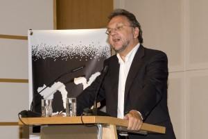 Laudator Heribert Prantl (Verleihung der Verschlossenen Auster 2010 ; Foto: nr/Bastian Dincher)