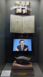 """Die """"Verschlossene Auster"""" in der Ausstellung """"Unter Druck! Medien und Politik"""". Foto: Teena Ihmels"""