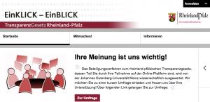 Auf transparenzgesetz.rlp.de können Bürger den Gesetzentwurf kommentieren.