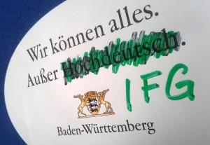 Baden-Württemberg unterbietet bundesweite IFG-Standards.