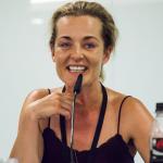 """Regisseurin und Schauspielerin Christiane Mudra spricht über ihr Überwachungsprojekt """"YoUturn"""". Foto: Sebastian Stahlke"""