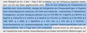 Auszug aus dem Beschluss des Bundesverfassungsgerichts.