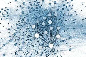 Ein Netzwerk von Personen, die in Archivdokumenten des Völkerbundes gemeinsam genannt werden. (Quelle: Wiki Commons / Martin Grandjean)