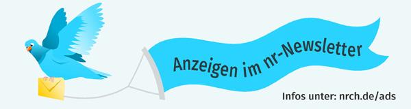 Anzeigen schalten im Netzwerk Recherche Newsletter. Ab sofort können Sie sich einen von drei Anzeigenplätzen in jeder Newsletter-Ausgabe sichern. Anzeigen- und Preismodelle unter www.nrch.de/ads