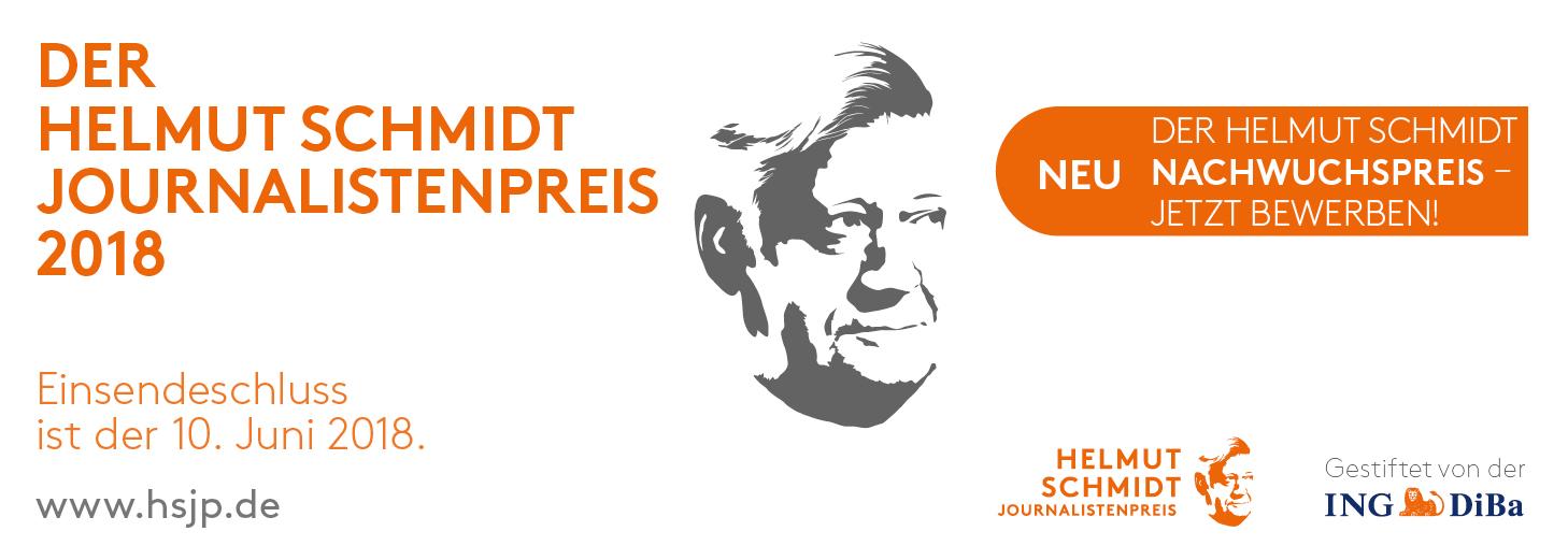 Der Helmut Schmidt Journalistenpreis 2018