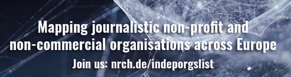 Mapping journalistic non-profit and non-commercial organisations across Europe. Join us: nrch.de/indeporgslist You'll find more information about the project in our last Seed newsletter (in german): https://netzwerkrecherche.org/wegweiser/homepage/informationen/seed-nr-4/